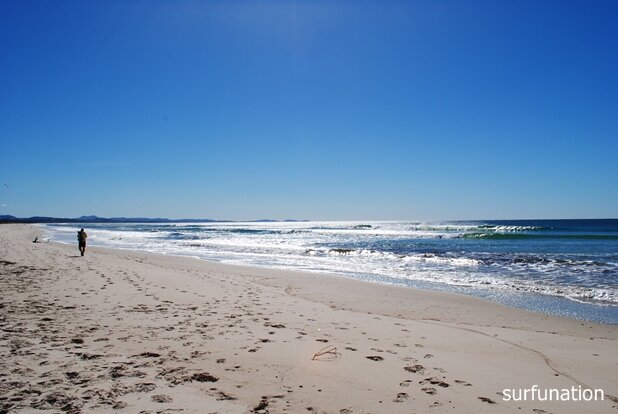 Belongil Beach looking north