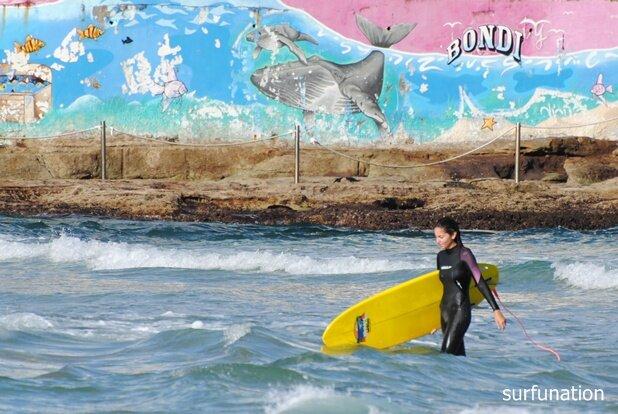 Bondi Beach artwork surf girl