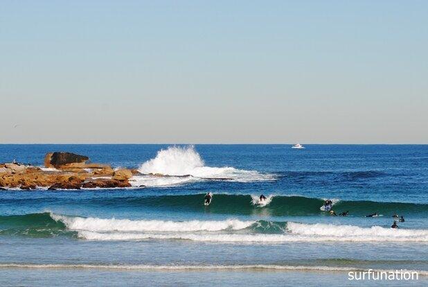 North Bondi winter surf fun