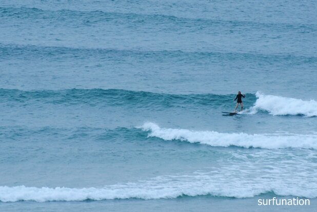 Clarkes Beach surfing mellow rights at high tide