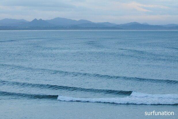 Clarkes Beach swell lines