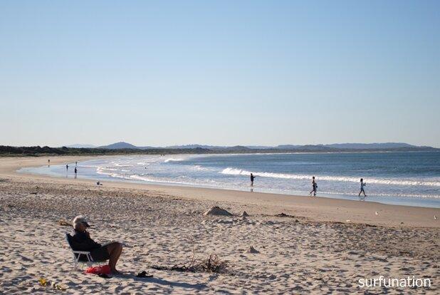 Evans Head Beach looking north