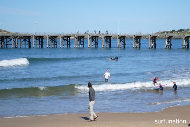 Jetty Beach girl surfing