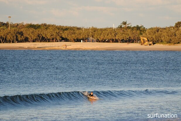 Mooloolaba Beach bodyboarding