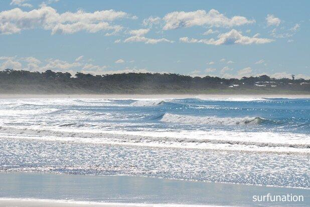 Sawtell Beach flat sandbar
