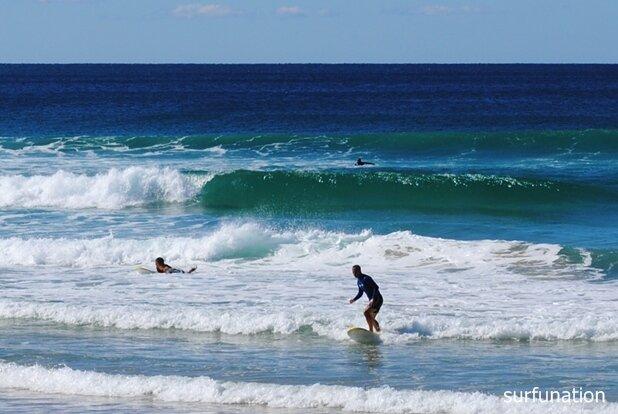 Sunshine Beach learning to surf
