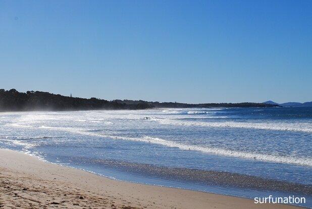 Woolgoolga Beach looking north