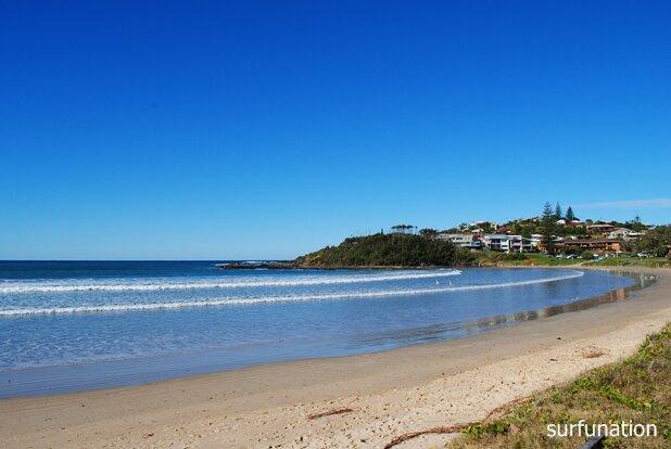 Woolgoolga Beach sandbar