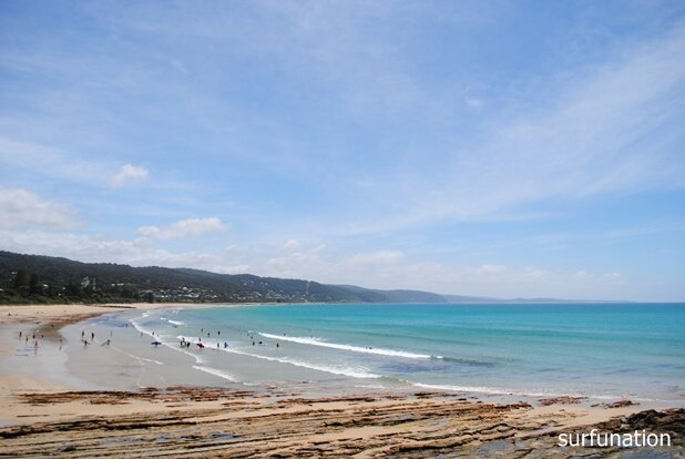 Lorne Beach sheltered west end