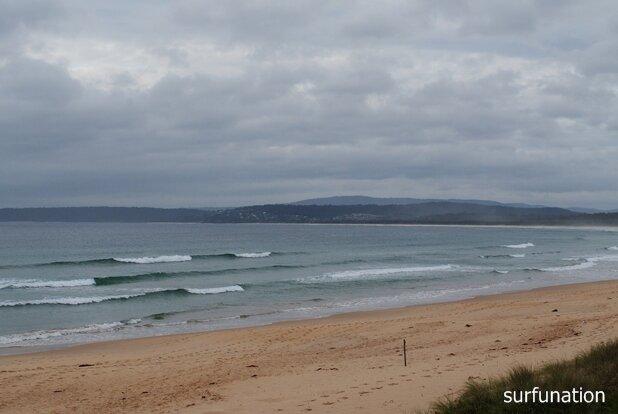 Merimbula Main Beach safe spilling waves