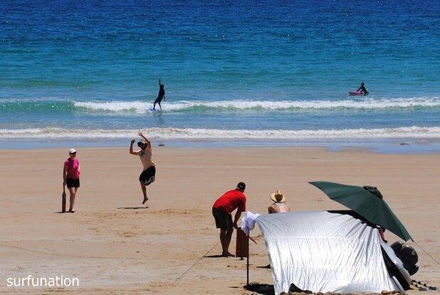 Moana Beach cricket and surf