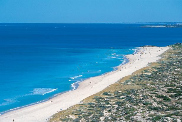 Perth coastline view north to Trigg