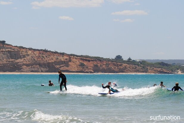 Surfing fun for adults at Point Roadknight
