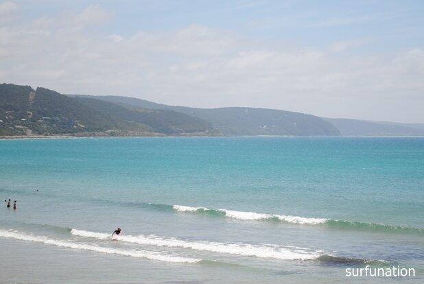 lorne Beach soft spilling wave